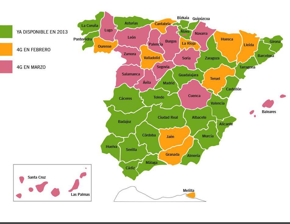 Cobertura Fibra Orange Mapa.Comparativa Y Cobertura De Las Ofertas 4g