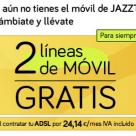 Jazztel y MÁSmovil regalan líneas de móvil en su campaña de verano