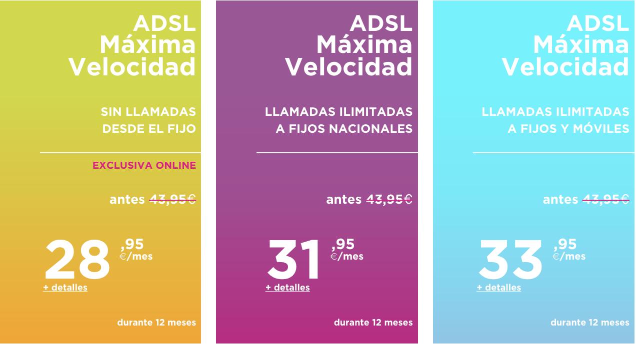 Rebajas Jazztel ADSL Junio